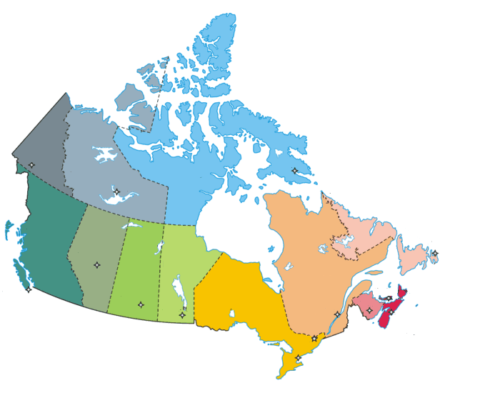 Canadian Provinces Quiz - Canada map quiz