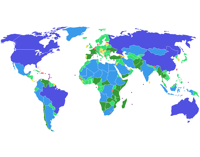 51 largest countries of the World