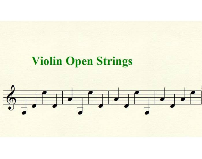 Violin Open String Notes