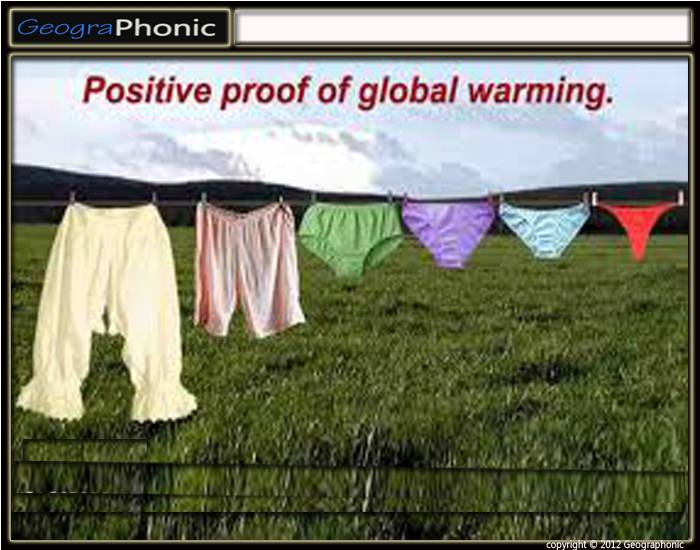 Cultural proof for Global Warming