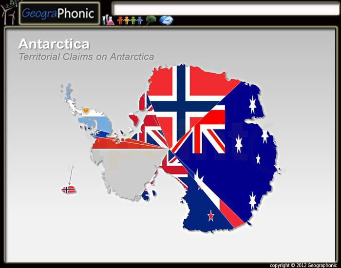 Map of Flags Antarctica