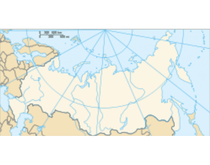 Russia and the Republics Physical Map Quiz PurposeGames