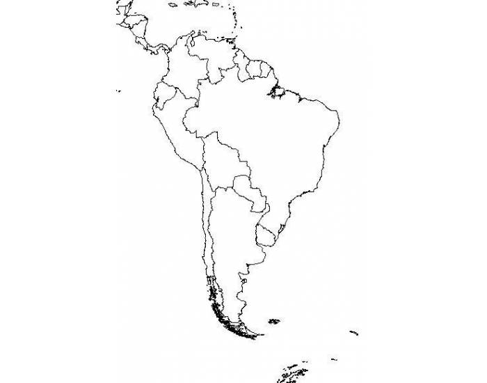 AP Human Geography South America map - PurposeGames