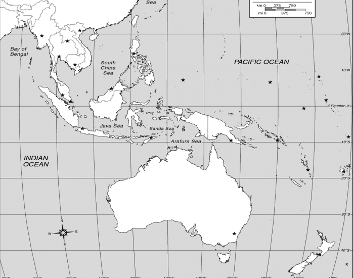Quiz Map Of Asia.Southeast Asia And The South Pacific Map Quiz Purposegames