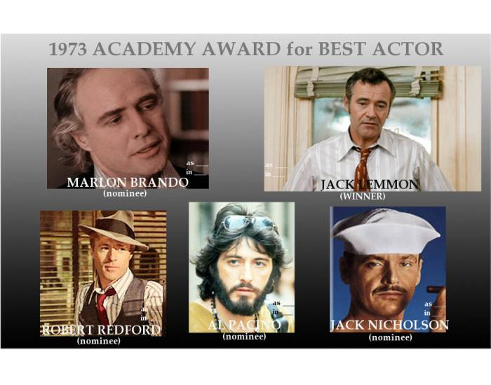 1973 Academy Award for Best Actor