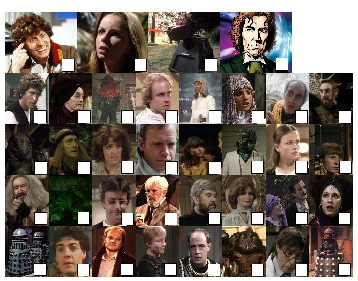 Doctor Who - Classic Series Seventeen Characters