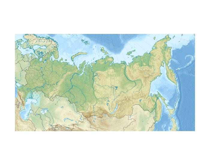Russia Costal Features, Rivers, and Cities
