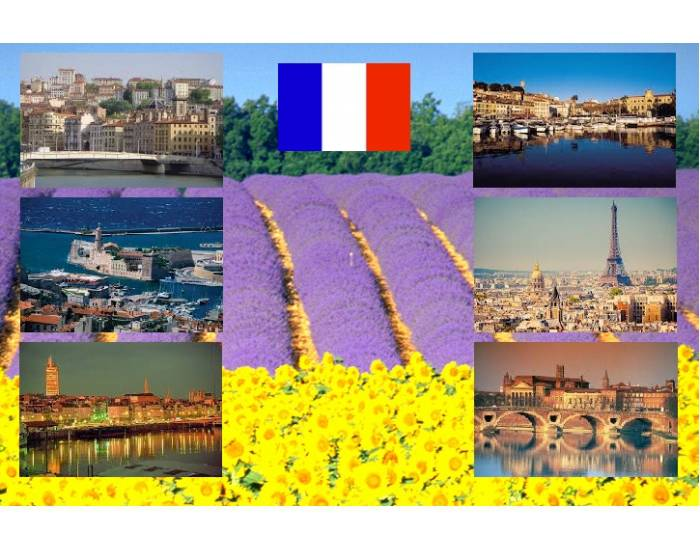6 cities of France