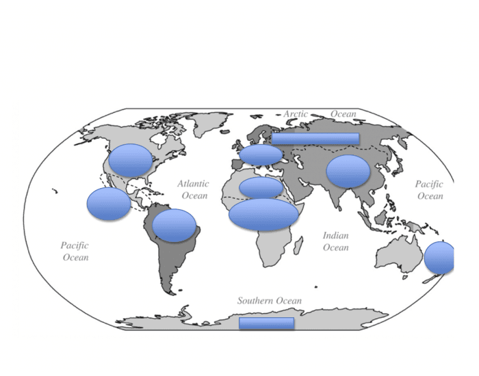Continents and Regions JT