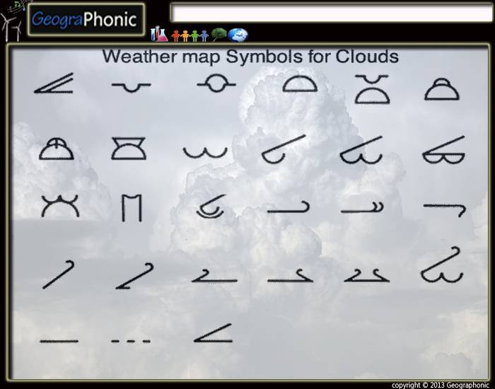 Weather Map Symbols For Clouds Purposegames