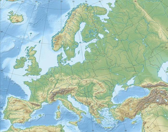 Europe Physical Features