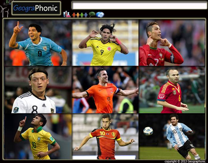 Best Football Players at World Cup 2014 in Brazil