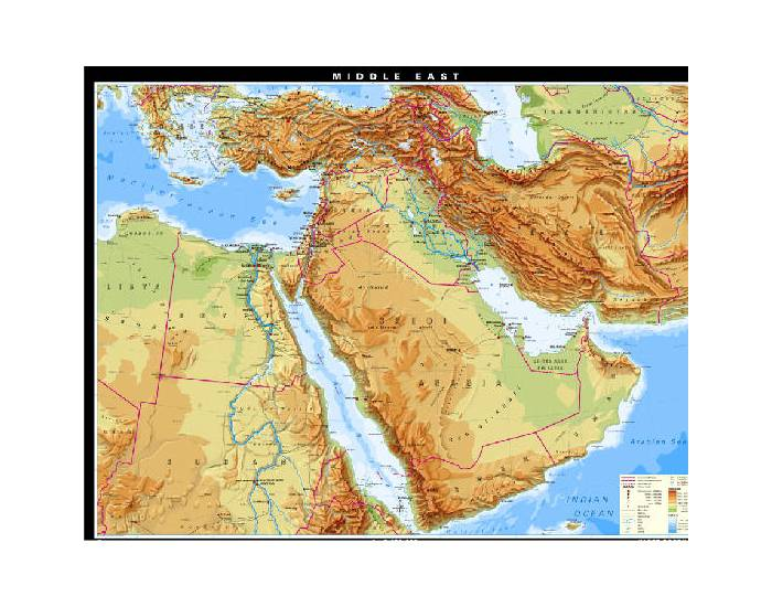 the physical features of southwest asia
