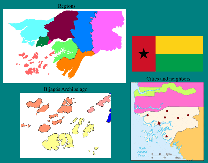 Guinea-Bissau in Three Maps