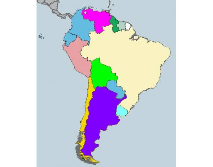 Countries of South America and their Capitals
