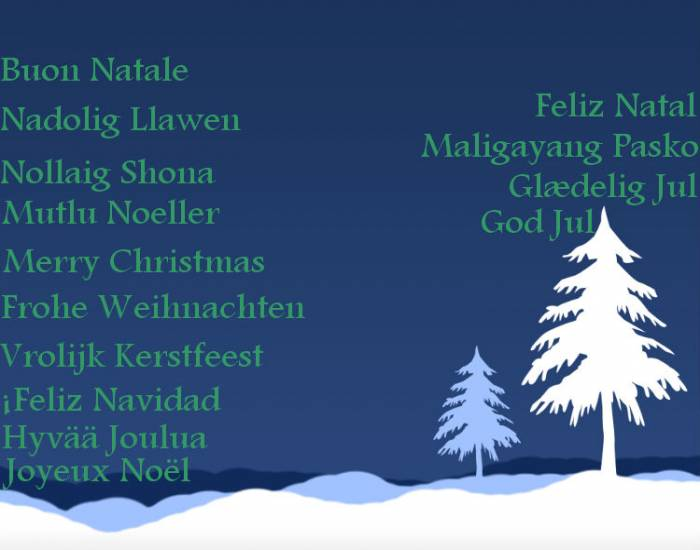 how to say merry christmas in different languages with pronunciations