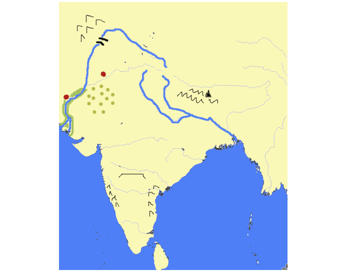Ancient india map practice purposegames gumiabroncs Choice Image