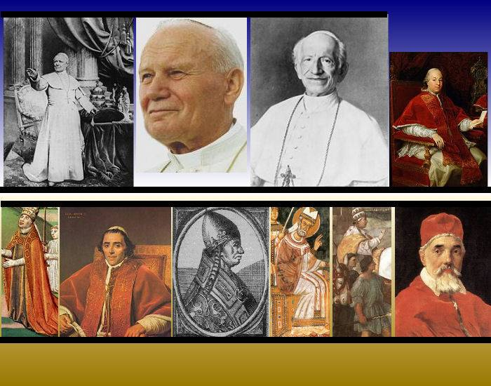 The longest reigns of Popes