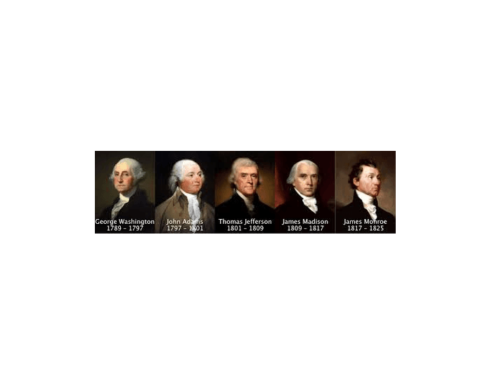 the first five presidents