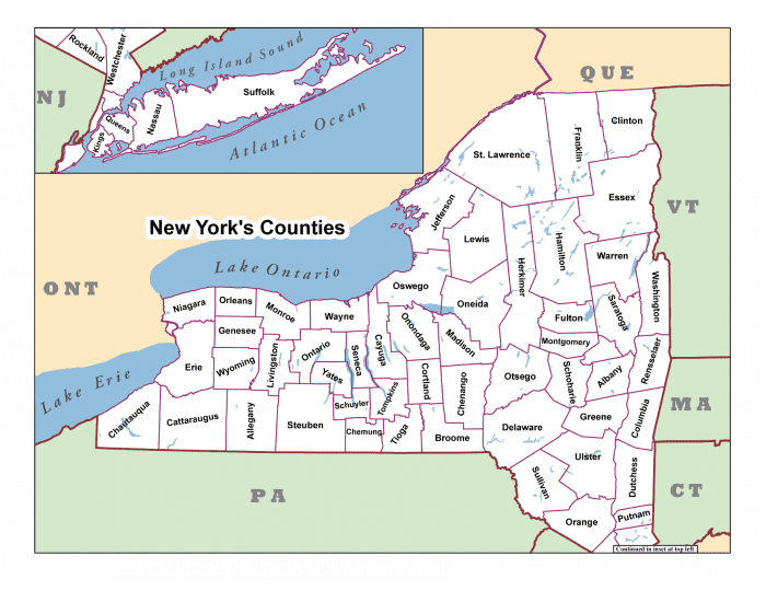 New York County Seats