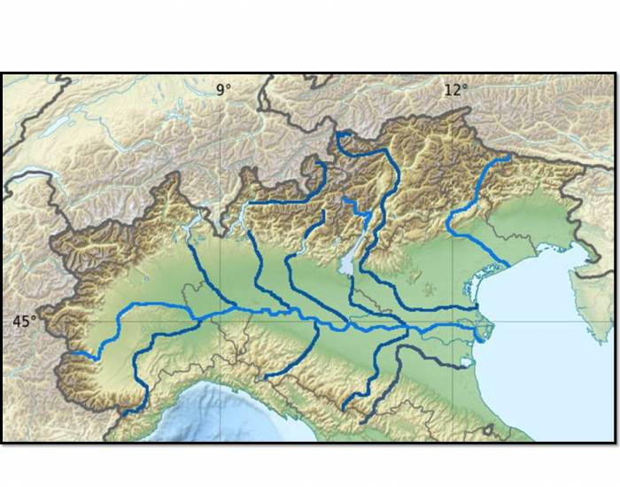 Waters in Northern Italy