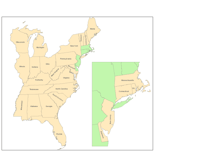 Governors of Eastern USA