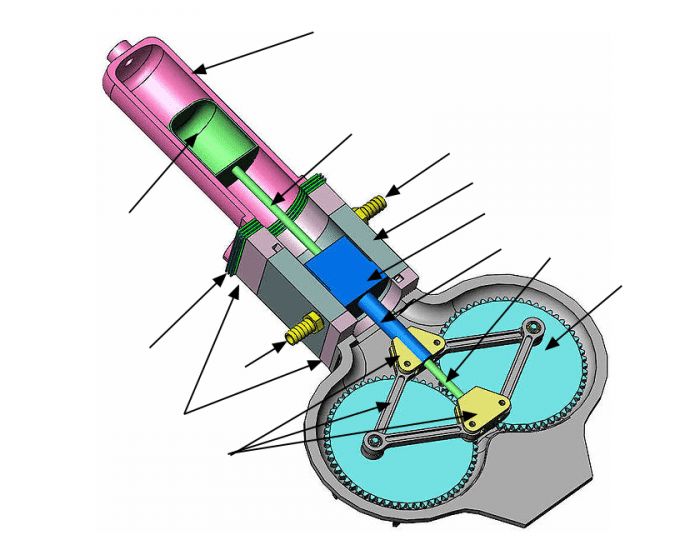 Stirling Engine  Beta Type