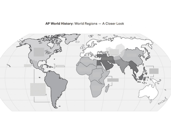 AP World History Regions Map - PurposeGames