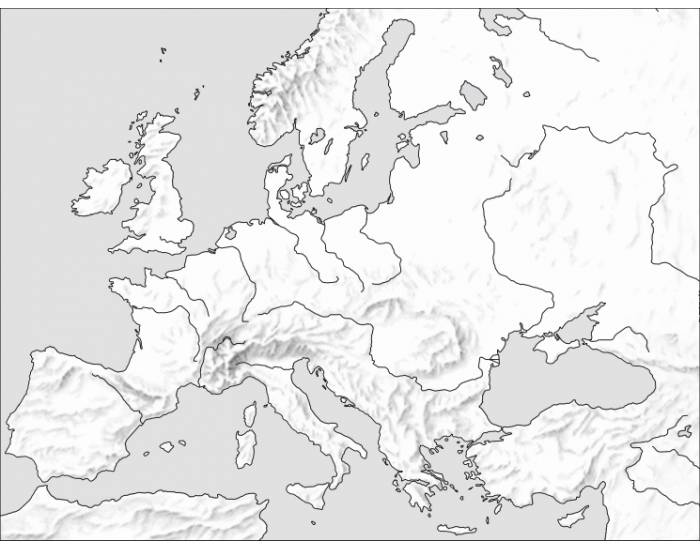 AP Human Geography Quiz - Europe Landforms
