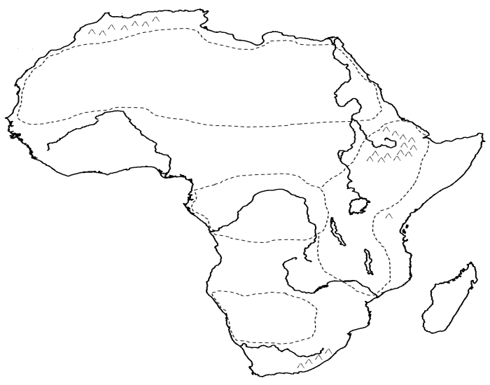 Africa - Physical Map