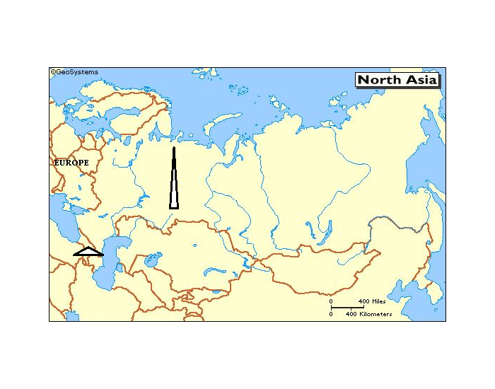 Russia Central Asia Physical