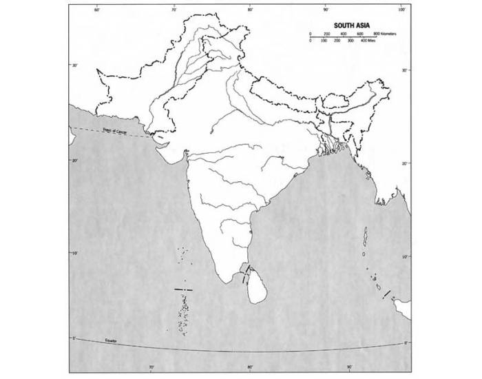 South Asia Physical Map quiz