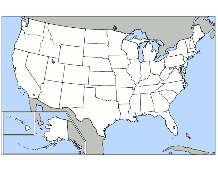 U.S.A. WEST of the Mississippi River