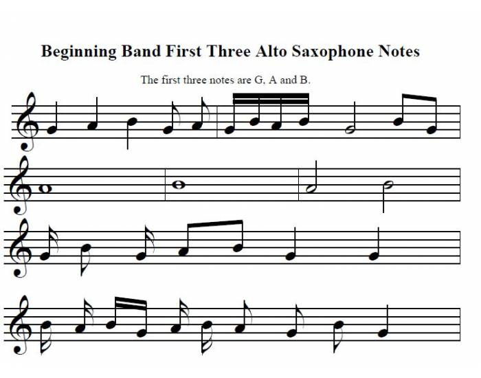 how to play alto sax notes