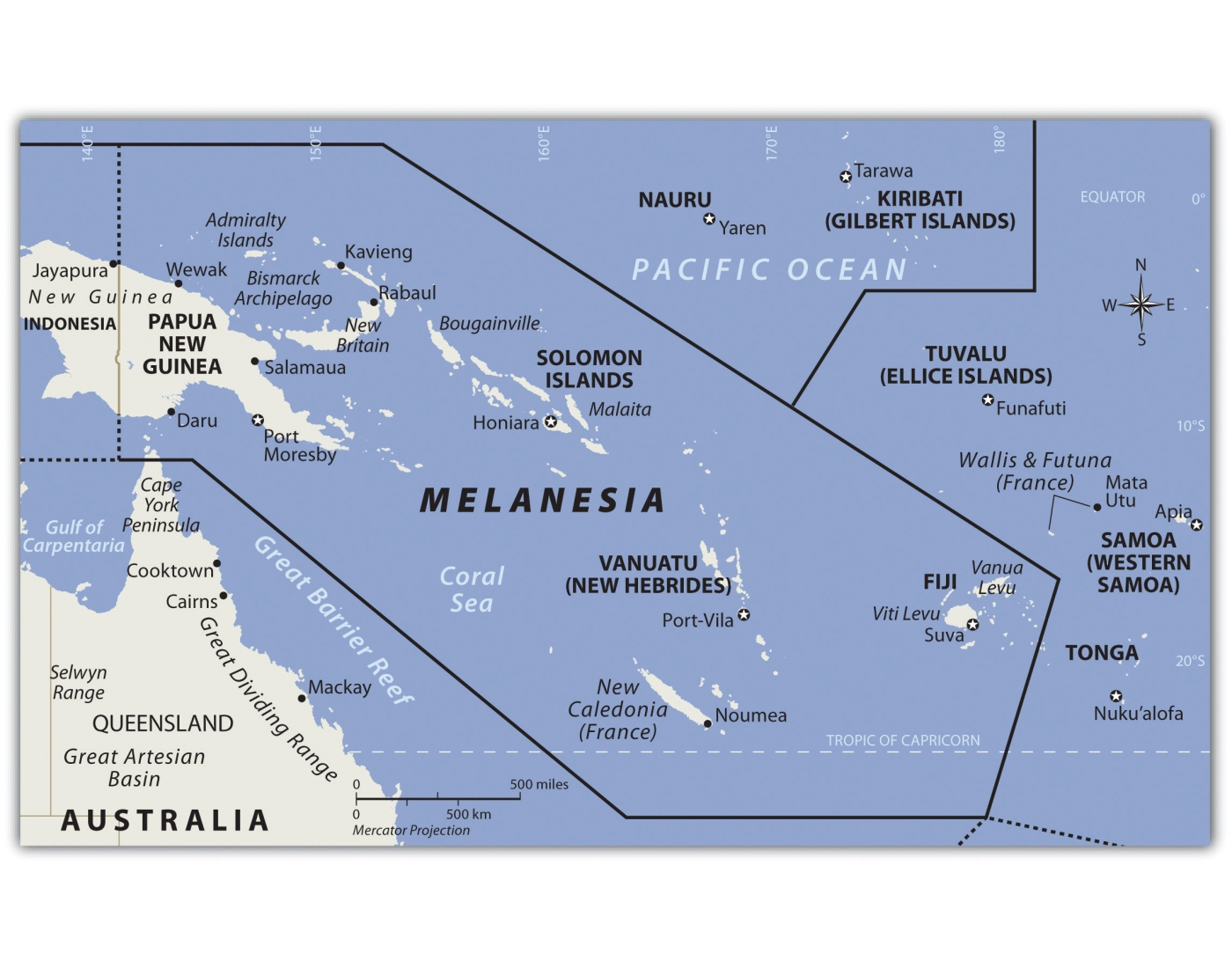 Capitals of Melanesia