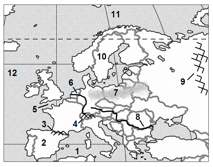 Physical Features of Europe 10   PurposeGames