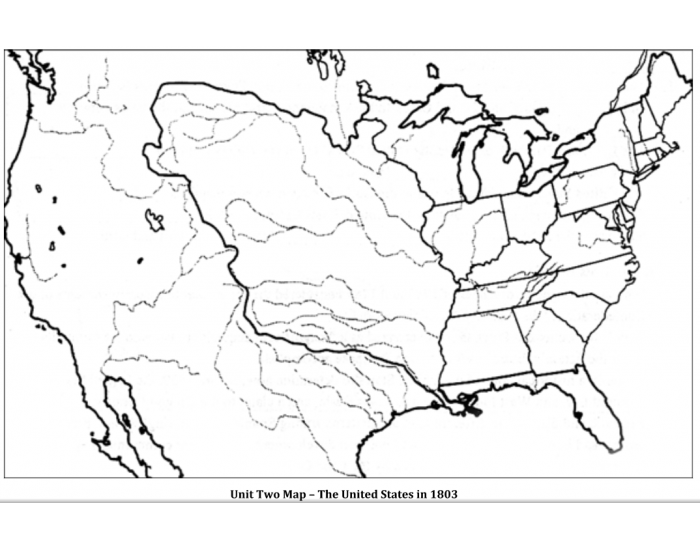 Unit Two Map The United States In 1803 Purposegames - Us-map-in-1803
