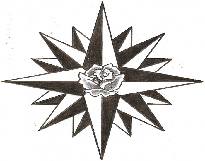 the compass rose - 16 points