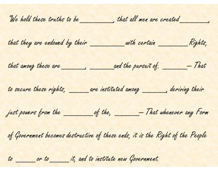 Declaration of Natural Rights- DOI