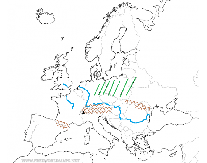 europe map quiz physical features Physical Features Quiz of Western Europe