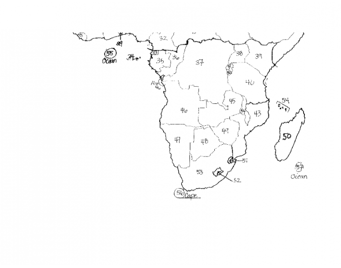 africa map practice game