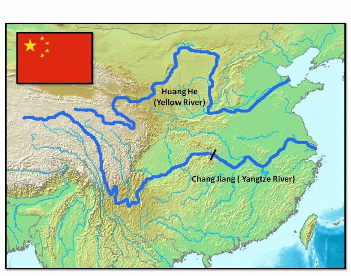 the main characteristics of the yangtze and yellow rivers