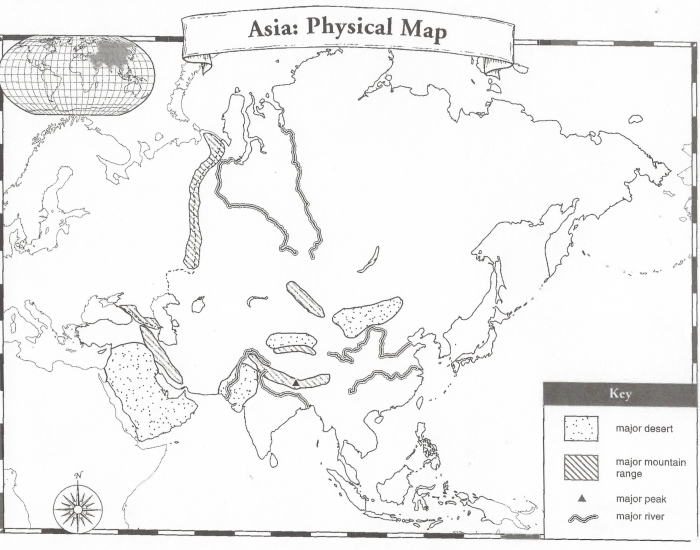 physical map of asia quiz. Black Bedroom Furniture Sets. Home Design Ideas