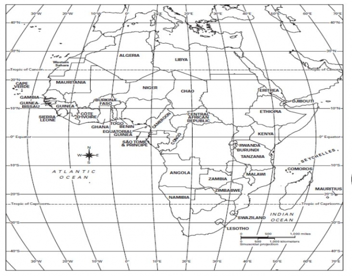 africa map test purpose games