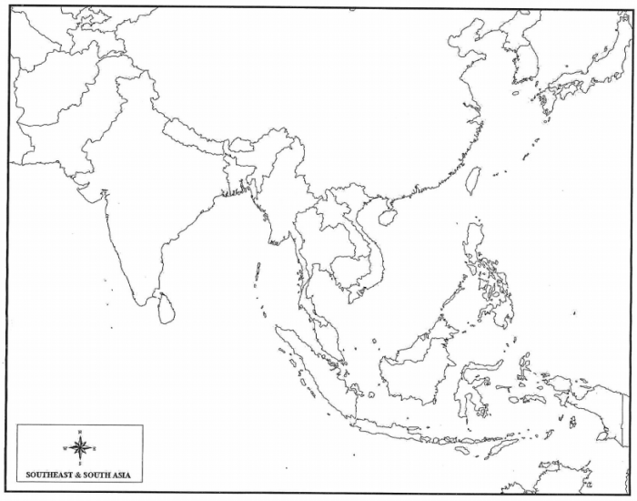 Map Of Monsoon Asia With Capitals.Game Statistics Monsoon Asia Political Capitals Cities