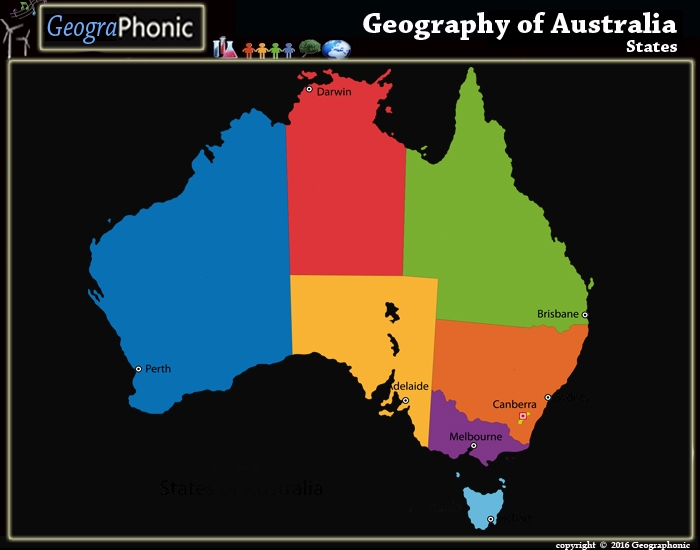 Geography of Australia : States
