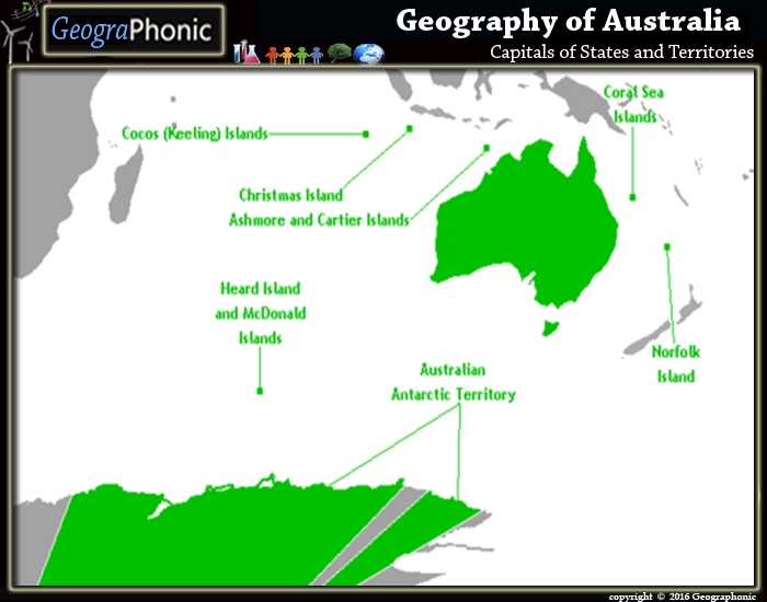 Capitals of States and Territories of Australia