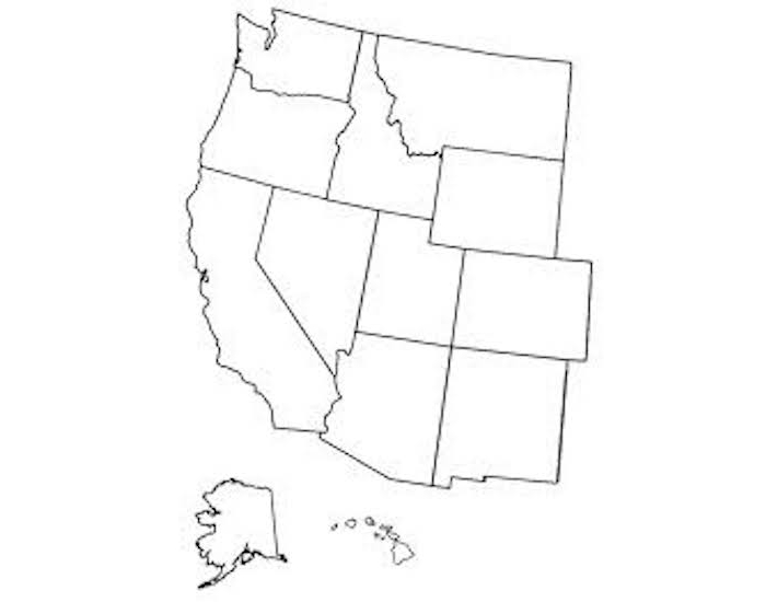 Western States Election Map 2000 Quiz   By Ksus