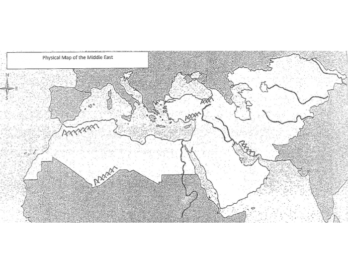 middle east map quiz pdf
