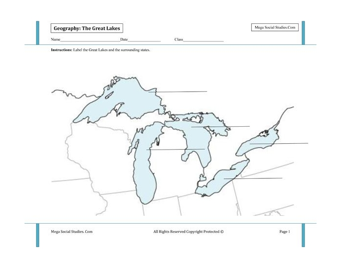 Great Lakes Map Quiz - Sheffield BCMS